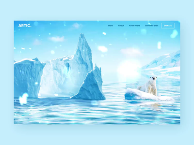 Arctic ⛄ - Landing page concept animation