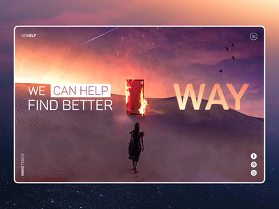 🔥 Better Way - Website Animation psychologist website ui trends woman desert doors fire travel animation webdeisgn motion interface homepage aftereffects 2020 trend
