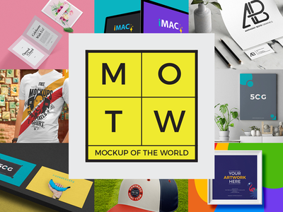 10 Free PSD Mockups 2018 MOTW 3 freebie psd psd mockup free mockup mockup imac cap frame business card poster tshirt invitation