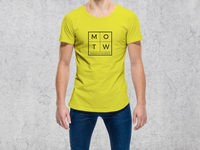 Young Cool Guy Wearing Round Neck T Shirt Mockup