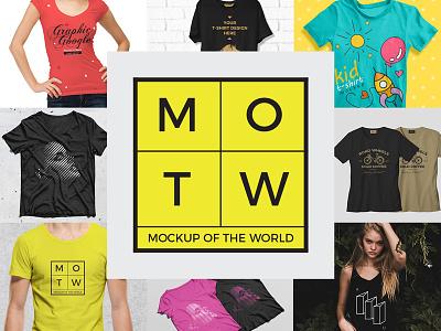 10 Free T-Shirt Mockups 2018 MOTW 4 branding fashion all mockups mockup world free mockup mockup tshirt mockup tshirt