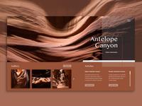 Antelope Canyon Landing Page