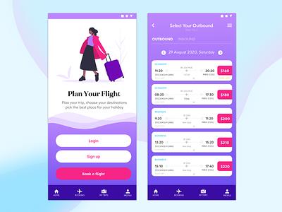 Fly Flit Mobile App uidesign uxdesign design app simple clean