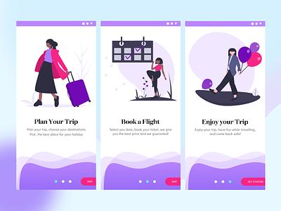 On-boarding Process Design onboarding screen uidesign design ui app layout clean