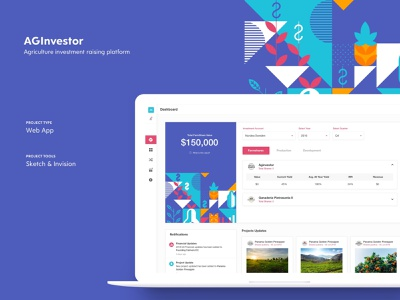 Aginvestor - Web App minimalism simple layout design app clean