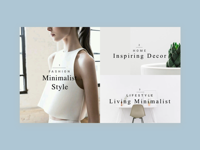 Minimalist Magazine magazine simple layout clean minimalism