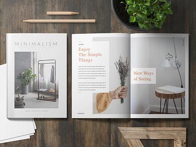 Minimalism Mag fashion lifestyle home magazine simple layout clean minimalism
