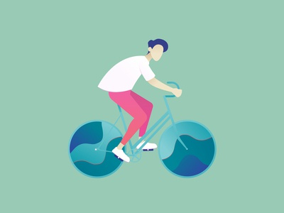 Cyclist Illustration