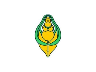Spiritual Mother identity flat logo icon app design vector minimal illustration branding