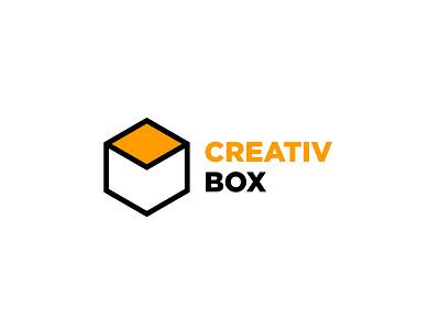 Creativ Box logo designer 2018 minimalist logo minimalist website agency identité visuelle logotype branding logo design logo infographiste oujda maroc morocco graphic designer graphic design studio