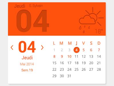 Calendar orange calendar