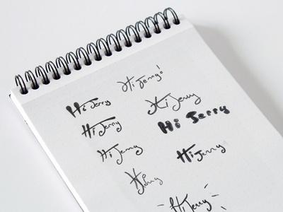 Sketchbook Hi Jerry sketch logo