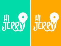 Hi Jerry logo declinations