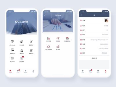 UI design for IDG Capital