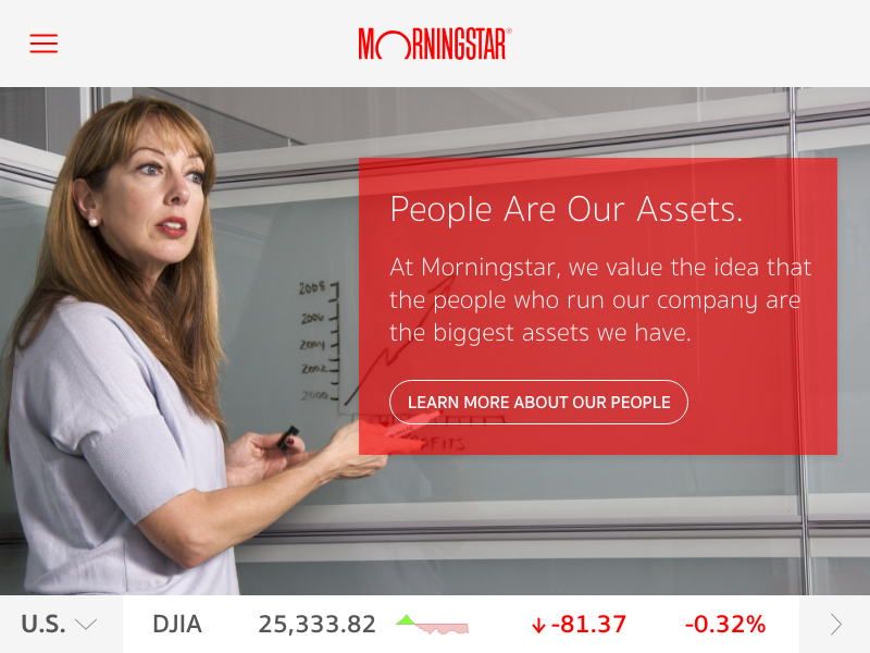 Landing Page Above the Fold daily-ui morningstar above the fold landing