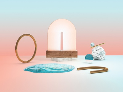 Gloam Light product web c4d illustration 3d