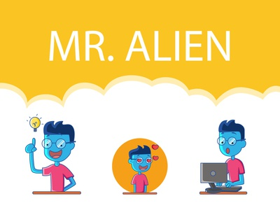 Mr. Alien Sticker Design