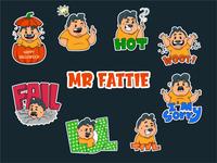 Mr Fattie Sticker Design