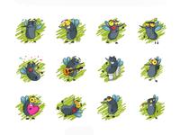 Funny Mosquito Emojis