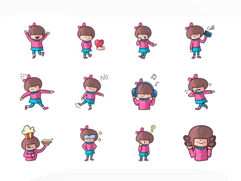 Cute Girl emoji by Emoji Expert on Dribbble