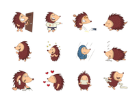 Hedgehog emoji set