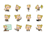 Teacher emoji set