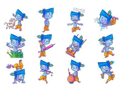 Lord Krishna Emoji Set