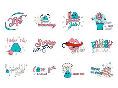 Text Emoji Set
