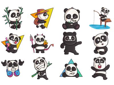 Cute Panda Emoji set