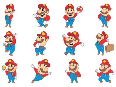 Mario Character Emoji Set