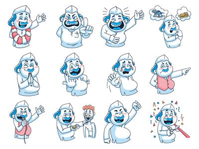 Cartoon Politician Emoji Set