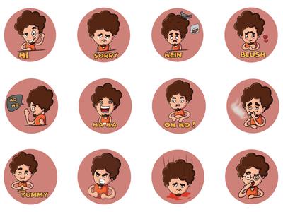 Cartoon Boy Emoji Set