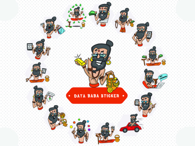 Data Baba Stickers