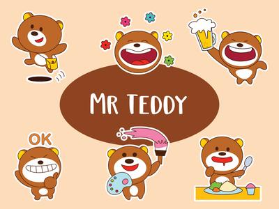 Mr Teddy Emoji Set