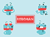 Robot Man Emoji Set