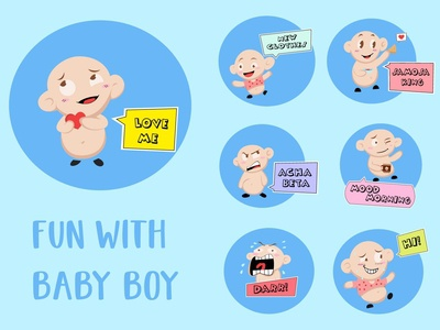 Baby Boy Emoji Stickers