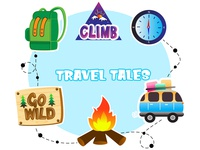 Travel Tales Emoji Sticker Set