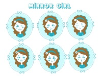 Mirror Girl Emoji Stickers