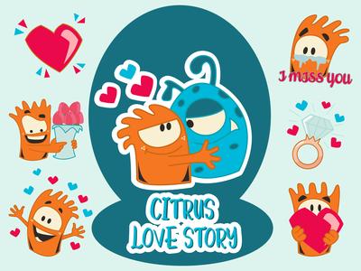 Citrus Love Story Emoji