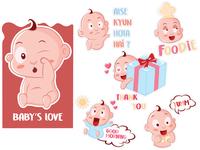 Baby's Love Emoji Stickers