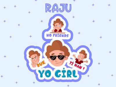 Raju Sticker Design