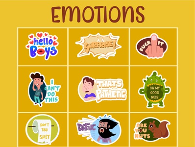 Emotions Sticker Design