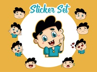 Cartoon Boy Emoji Sticker