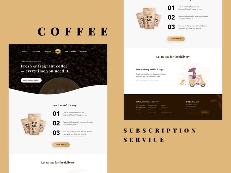 Coffee Subscription Service — Landing Page