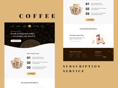 Coffee Subscription Service — Landing Page typography coffee web design web graphic ui design landing page landing uidesign designers webdesign uiux developer designer