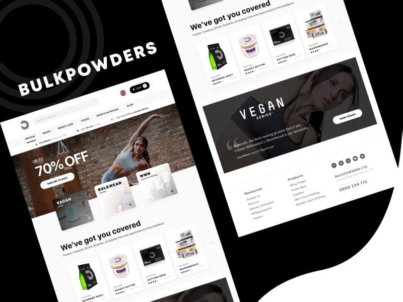 Supplement E-commerce website typogaphy webdesign citation minimal footer hero products list ux ui uidesign website ecommerce
