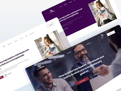 Stay strong - Leadership website marketing life coach keyword interface leadership layou flat design clean