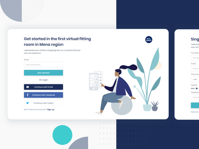 Get started with fit and shop typography vector illustration schedule ui ux space xd registration login sign up sign in shop