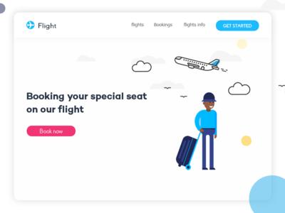 Booking flights debut airport ux ui vector airplane design dribbble web
