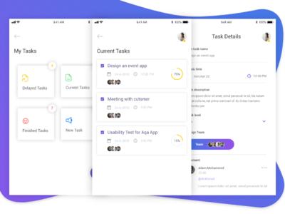 Task project Management black ios menu minimal schedule statistics task todo to-do white